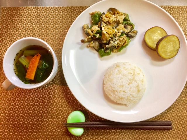 好評!第9弾3食材(卵、小松菜、なす)くりまわし3日間NO.3