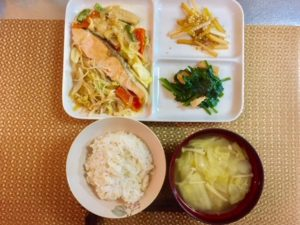 好評!第12弾3食材(ほうれん草、大根、鮭)くりまわし3日間No.2